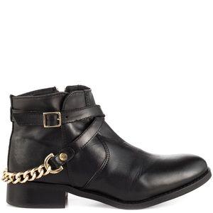 STEVE MADDEN Ringoo Gold Chain Ankle Boot